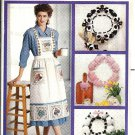 Apron, Cow, Pig, Sheep, Wreath 80s Sewing Pattern Butterick 4164