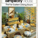 Far Eastern Dining Room Sewing Pattern 1970s Simplicity House 108