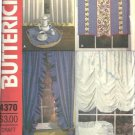 Window Treatment Curtain, Shade, Valance Sewing Pattern Butterick 4370