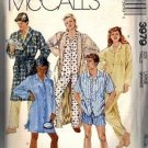 Misses, Men Nightshirt Pajamas Robe Sewing Pattern McCalls 3979 Sz Lg
