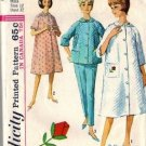 Misses 60s Robe, Lounging Pajamas Sewing Pattern Simplicity 5205 Sz 12