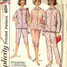 Misses Proportioned Pajamas Vtg Sewing Pattern Simplicity 4006 Size 10