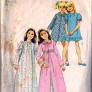 Girls 70s Robe Nightgown Sewing Pattern Size 6 Simplicity 5339