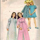 Girls 70s Robe Nightgown Sewing Pattern Size 4 Simplicity 5339