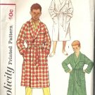 Boys Wrap Robe 50s Vintage Sewing Pattern Simplicity 2313 Size 12