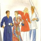 Men, Misses Wrap Robe Sewing Pattern Butterick 4137 Size Medium 38, 40