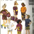 McCalls 4830 Boy Girl Sweatshirt Shirt Pants Bag Sewing Pattern Sz Med