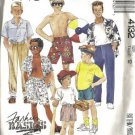 Boys 80s Shirt Top Pants Shorts Sewing Pattern McCalls 4132 Size 12