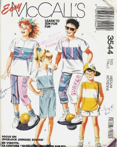 Boy/Girl Top, Pants, Shorts Sewing Pattern McCalls 3544 Size 8, 10