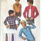 Boys 70s Shirt, Necktie Vintage Sewing Pattern Simplicity 5099 Size 12