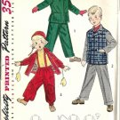 Childs 50s Jacket Pants Hat Sewing Pattern Simplicity 4026 Size 3