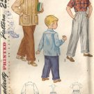 Boys 40s Shirt Pants Vintage Sewing Pattern Simplicity 2969 Size 6