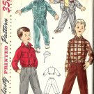 Boys 50s Jacket, Hat, Pants Sewing Pattern Simplicity 1442 Size 8