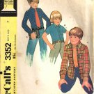 Boys Shirt, Shirt Jacket Vintage Sewing Pattern McCalls 3352 Size 7