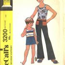 Boys 70s Tank Top, Pants, Shorts Sewing Pattern McCalls 3200 Size 10