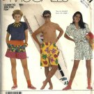 Misses, Mens 80s Shorts Sewing Pattern Size Medium McCalls 2981
