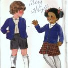 Boy Girl Jacket Skirt Shorts Vtg Sewing Pattern Butterick 3595 Size 4