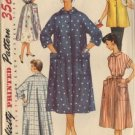 Misses 50s Duster Dress Housecoat Sewing Pattern Simplicity 4925 Sz 12