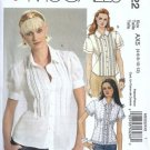 McCalls 5322 Misses Blouse Sewing Pattern Size 4, 6, 8, 10, 12