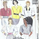 McCalls 4773 Misses Basic Blouse 80s Sewing Pattern Size 10