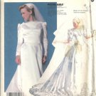 Misses Priscilla Bridal Gown Sewing Pattern McCalls 2343 Size 8, 10, 12
