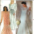 Misses Bride Dress, Slip, Veil Sewing Pattern Butterick 4414 Size 16
