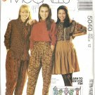 McCalls 5040 Misses Blouse, Skirt, Pants Sewing Pattern Size 12