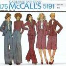 McCalls 5191 Misses Jacket, Skirt, Pants Vintage Sewing Pattern Sz 14