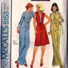 McCalls 5153 Misses Jacket Vest Skirt Pants Sewing Pattern Size 14