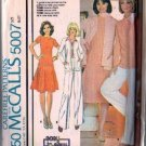 McCalls 5007 Misses 70s Jacket, Skirt, Pants, Top Sewing Pattern Sz 20