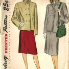 Misses 40s Boxy Jacket, Skirt Sewing Pattern Simplicity 1913 Size 18