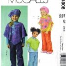 McCalls 4906 Girls Poncho, Hat, Pants Sewing Pattern Size 4, 5, 6