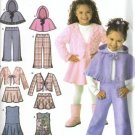 Girls Jumper, Jacket, Poncho Sewing Pattern Simplicity 4384 Size 3, 4, 5, 6, 7, 8