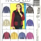 Misses Unlined Jacket Sewing Pattern McCalls P275 Size L, XL