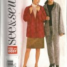 Misses Jacket Skirt Pants Sewing Pattern Butterick 3625 Sz 12, 14, 16