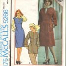 Misses 70s Dress Jumper Top Sewing Pattern McCalls 5266 Size 14, 16