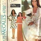 McCalls 4792 Misses Dress Top Pants Vintage Sewing Pattern Size 8