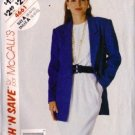 McCalls 4661 Misses 80s Dress, Jacket Sewing Pattern Size 8, 10, 12