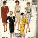 McCalls 4642 Misses 80s Straight Dress Sewing Pattern Size 8, 10, 12