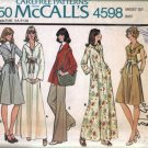 Misses Dress, Top, Pants Vintage Sewing Pattern McCalls 4598 Size 16