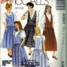 Misses 80s Jumper Petticoat Sewing Pattern McCalls 4350 Size 10, 12