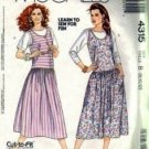 Misses Drop Waist Jumper, Top Sewing Pattern McCalls 4315 Size 8, 10, 12