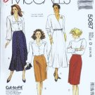McCalls 5087 Misses Skirt Sewing Pattern Size 12 14 16
