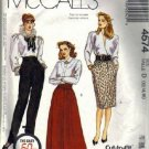 Misses Skirt, Pants Sewing Pattern McCalls 4574 Size 12, 14, 16