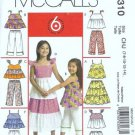 McCalls 5310 Girls Sewing Pattern Top Skirt Pants Sz 7, 8, 10, 12, 14