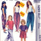McCalls 5293 Girls TShirt, Pants, Shorts Sewing Pattern Size 8, 10