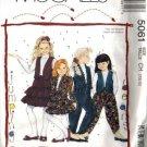 McCalls 5061 Girls Jacket Vest Skirt Pants Sewing Pattern Sz 7, 8, 10