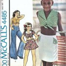 McCalls 4485 Girls Midriff Top Skirt Pants Vtg Sewing Pattern Sz 10