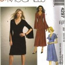 Misses Knit Dress Sewing Pattern McCalls 4297 Size 6, 8, 10, 12