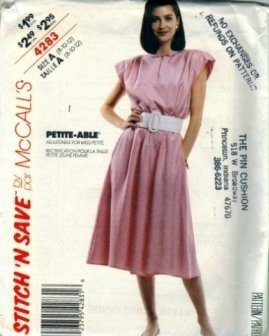 Misses 80s Dress Sewing Pattern McCalls 4283 Size 8, 10, 12